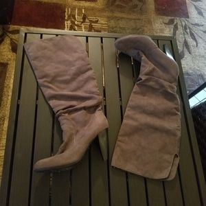 Mossimo high heeled, knee high boots
